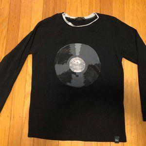 Italian designer record album shirt